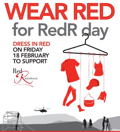 ipwea vic blog events wear red day to support redr australia
